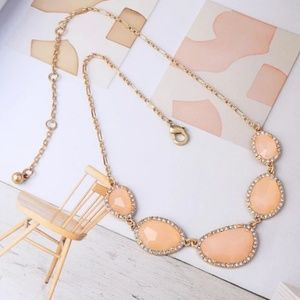 chunky crystals Collar necklace